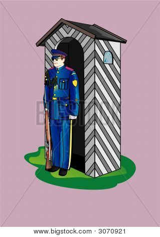Soldier With Sentry-Box