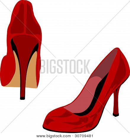 Red Heels Illustration