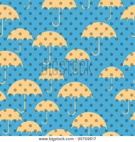 Seamless Patterns Of Umbrellas