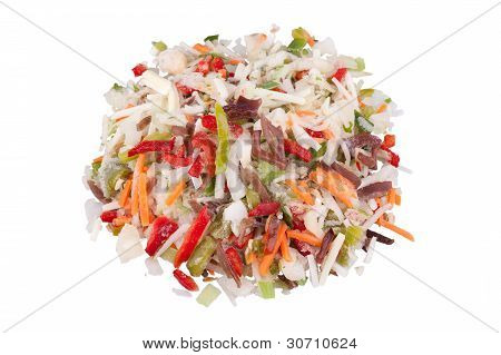 Chinese Mix, Frozen Vegetables With Black Fungus Mushrooms Strips