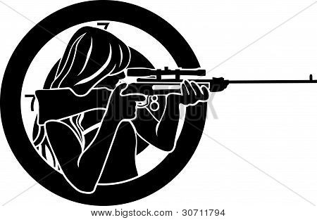 girl with rifle