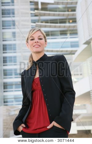 Beautiful Blonde Business Woman