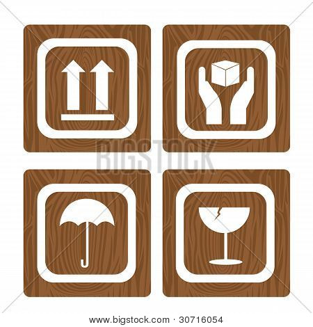 Wooden Sign Square