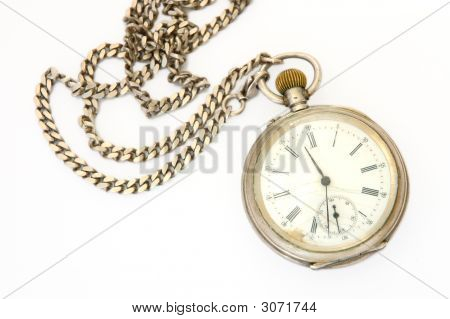 Old Silver Pocket Watch.