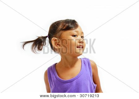 Cheerful Asian Little Girl Portrait