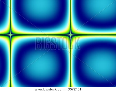 Abstract Blue Green Tile Design
