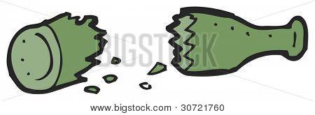 broken bottle cartoon