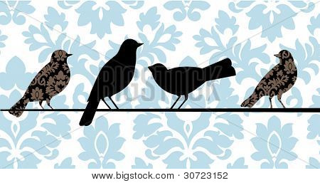 Damask birds