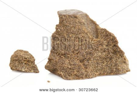 Street drug: hashish (marijuana resin), isolated