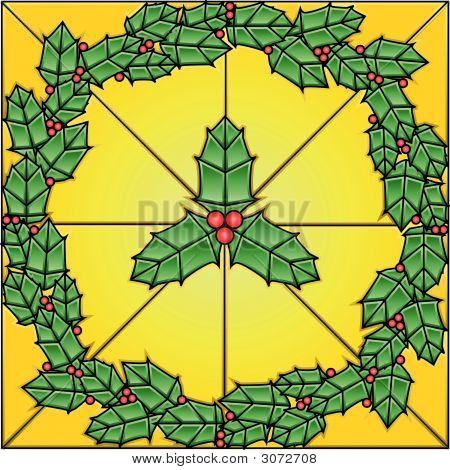 Stained Glass Holly