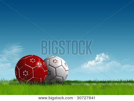 Twin soccer ball