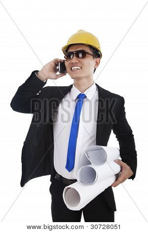 Architect Talking On The Phone