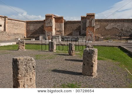 Ruins At Pompeii, Italy