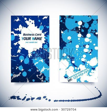 Vector Business Card Template - front and back side