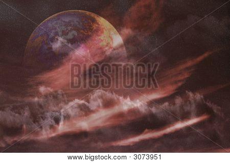 Planeta espacio nebulosa
