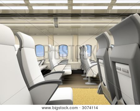 Interior Of The Airplane Salon