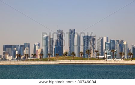 Skyline Of Doha Downtown