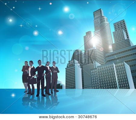 Ilustración profesional equipo Blue City