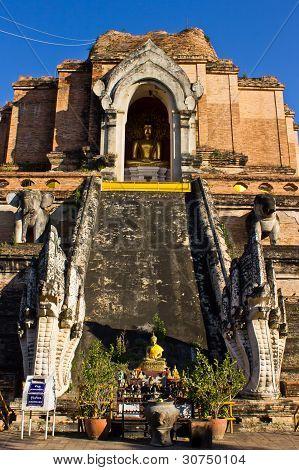 Chedi In Wat Chedi Lung Chiangmai
