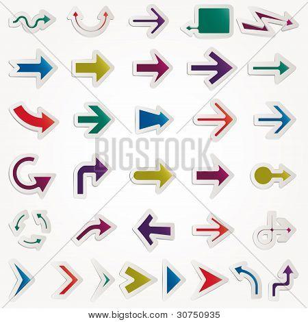 conjunto de flechas Vector