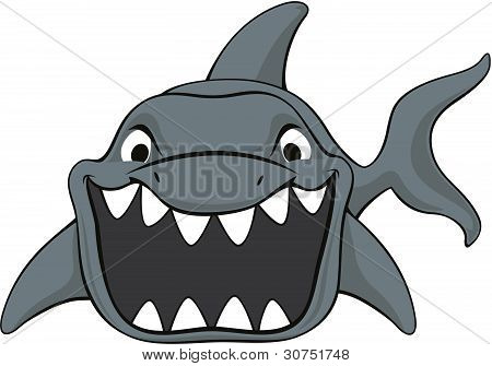 Shark attack cartoon