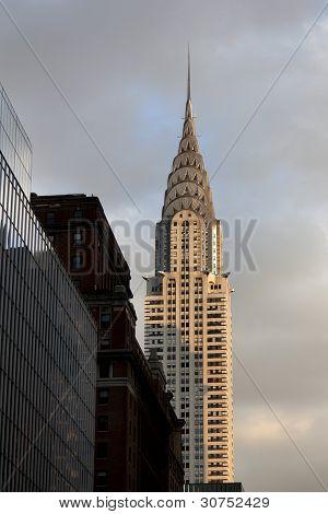NEW YORK CITY - January 02, 2012: Chrysler Building Facade