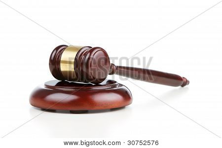 Gavel At Sound Block