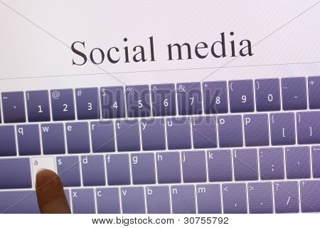 social media on tablet