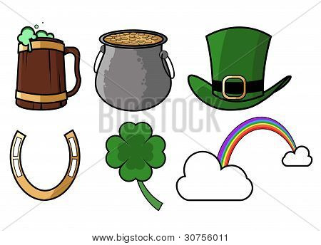 St patricks day icon set