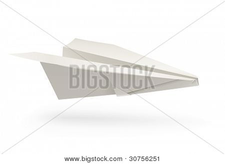 paper airplane origami vector illustration isolated on white background