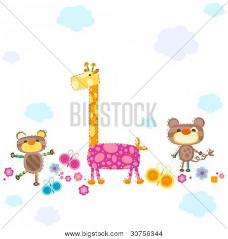 cute animals background