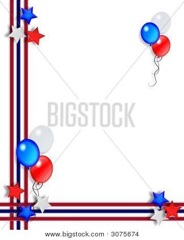 Patriotic American Border