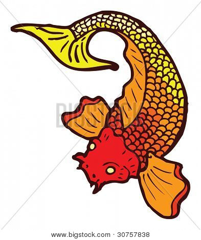 koi tattoo cartoon