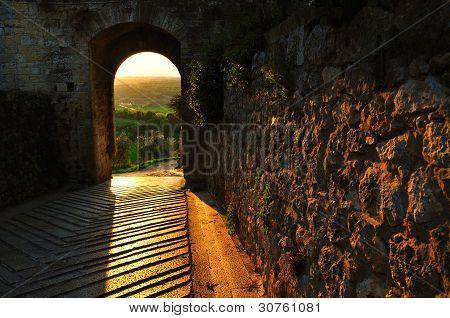 City door of Monteriggioni