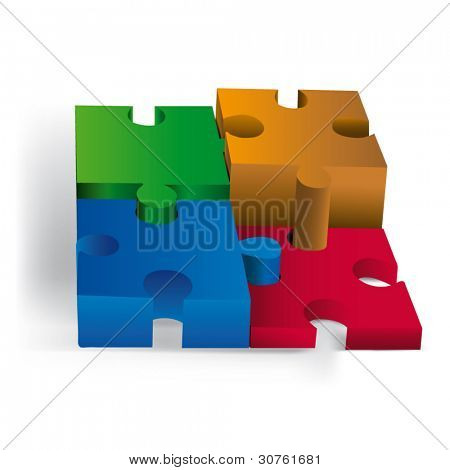 Diagramas 3D del rompecabezas