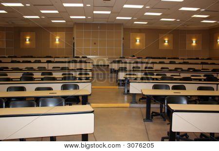 Schoolroom With Sleeping Student