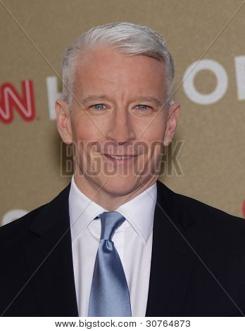 LOS ANGELES - DEC 11:  Anderson Cooper arrives to the CNN Heroes: All-Star Tribute 2011  on December 11, 2011 in Los Angeles, CA.