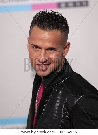 "LOS ANGELES - NOV 20:  Mike ""the Situation"" Sorrentino arrives to the American Music Awards 2011  on November 20, 2011 in Los Angeles, CA"