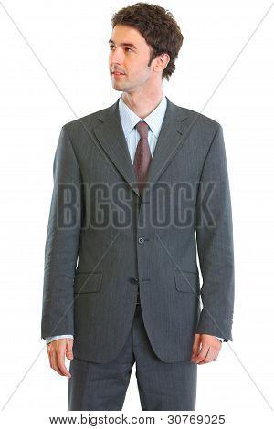 Modern Businessman Looking In Corner