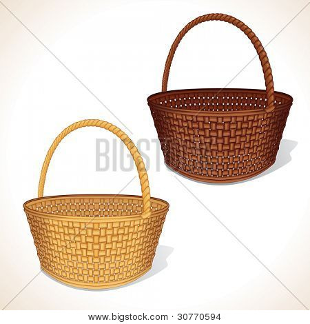 Isolated Vector Basket