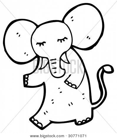cartoon elephant standing up