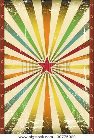 Vintage star background. A background for a vintage poster and your show