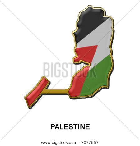 Palestine Metal Pin Badge