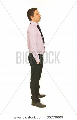Business Man Looking Away