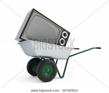 Wheelbarrow Old Tv