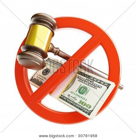 keine korrupten Gericht-Hammer