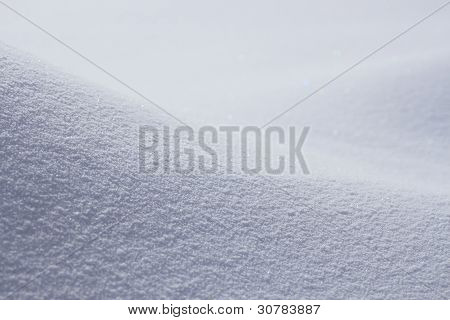 Snowfield In Winter