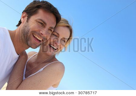 Carefree couple on holiday together