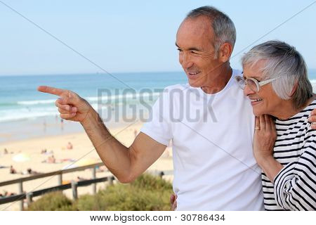 Older couple on the prom