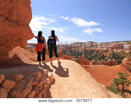 Excursionistas en Bryce Canyon